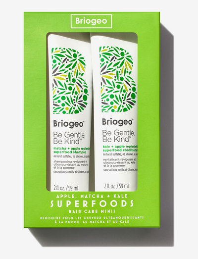 Briogeo Superfoods Apple, Matcha + Kale Hair Care Minis - hårvårdsset - clear