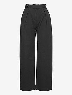 Kope - wide leg trousers - black