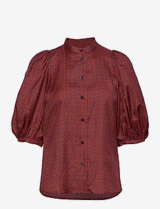 Dalia shirt - blouses à manches longues - ratti red
