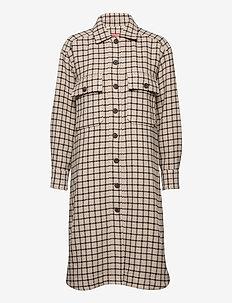 Petra - manteaux en laine - big check