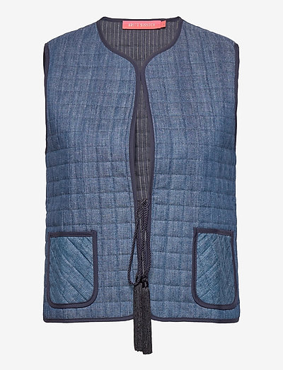 Penelope - puffer vests - denim blue