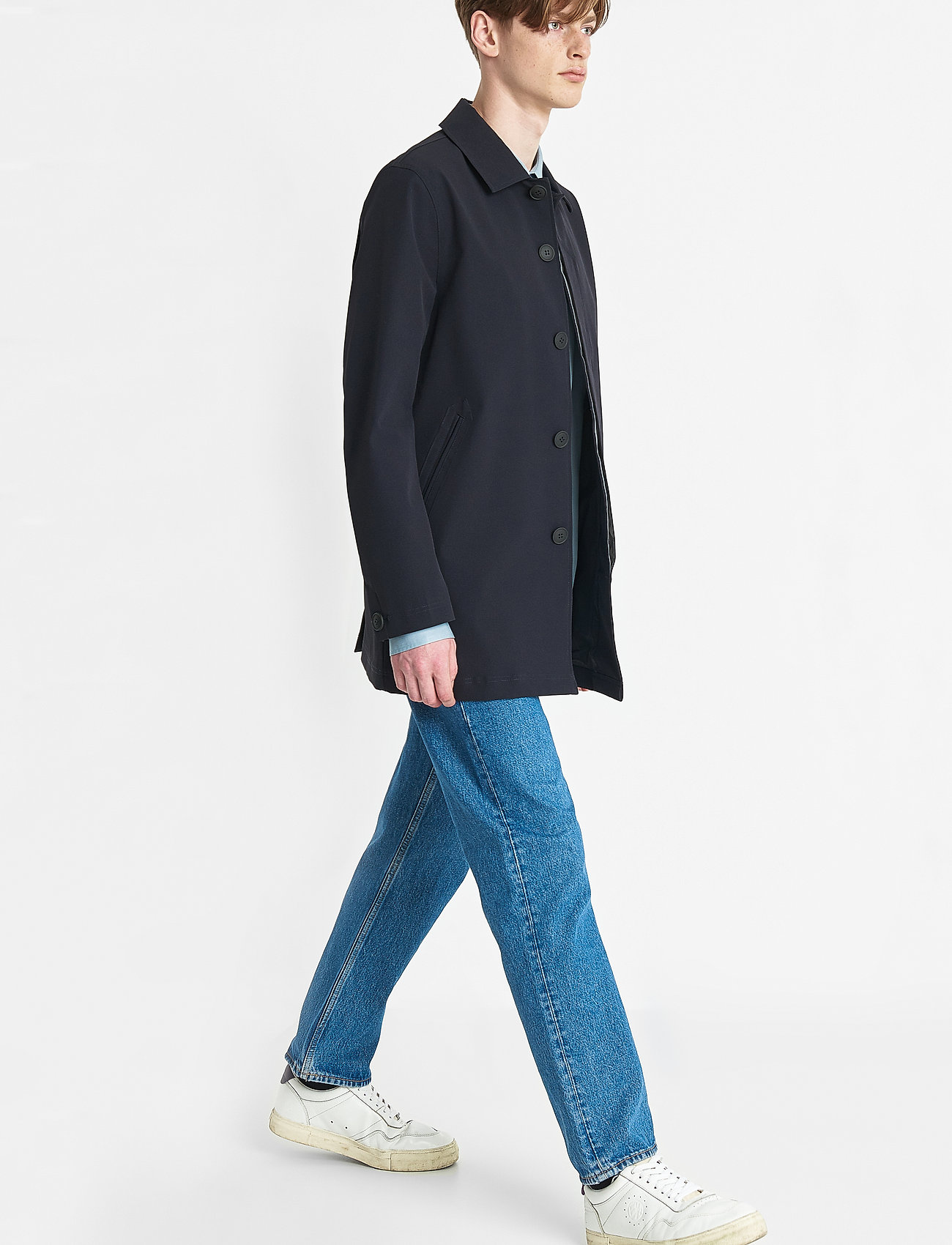 Brixtol Textiles - T-Coat Stretch - cienkie płaszcze - carbon navy - 3