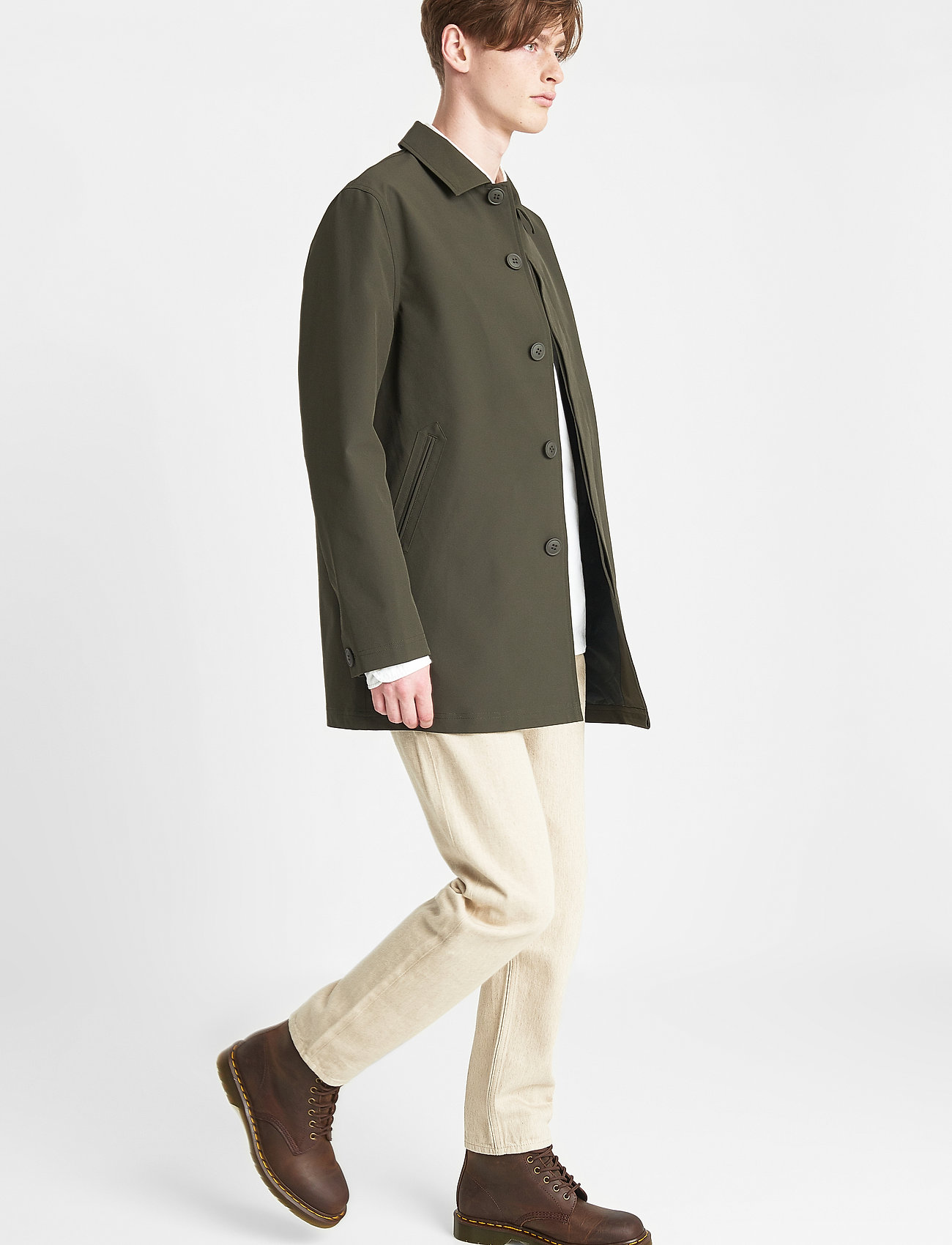 Brixtol Textiles - T-Coat Stretch - cienkie płaszcze - olive - 3