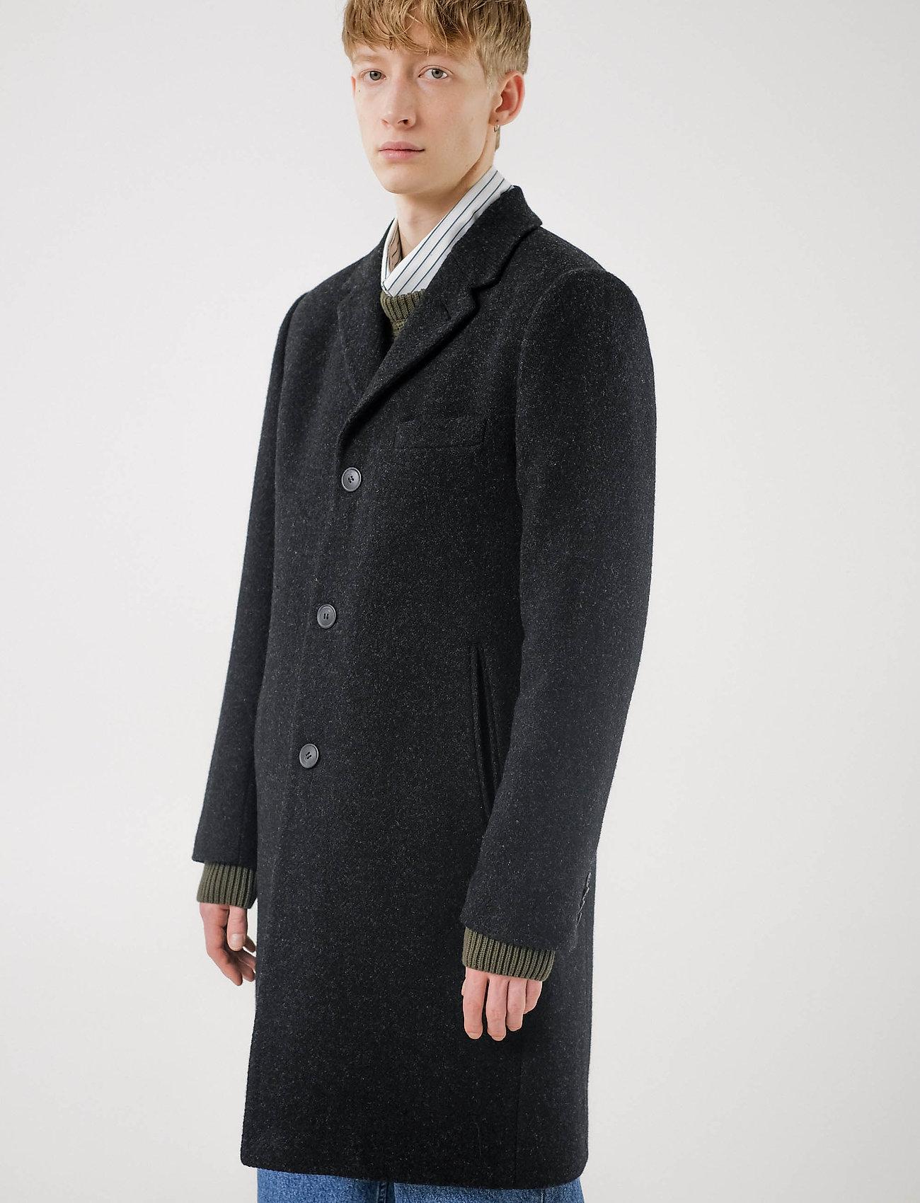 Brixtol Textiles - Ian - wollen mantels - black melange - 0