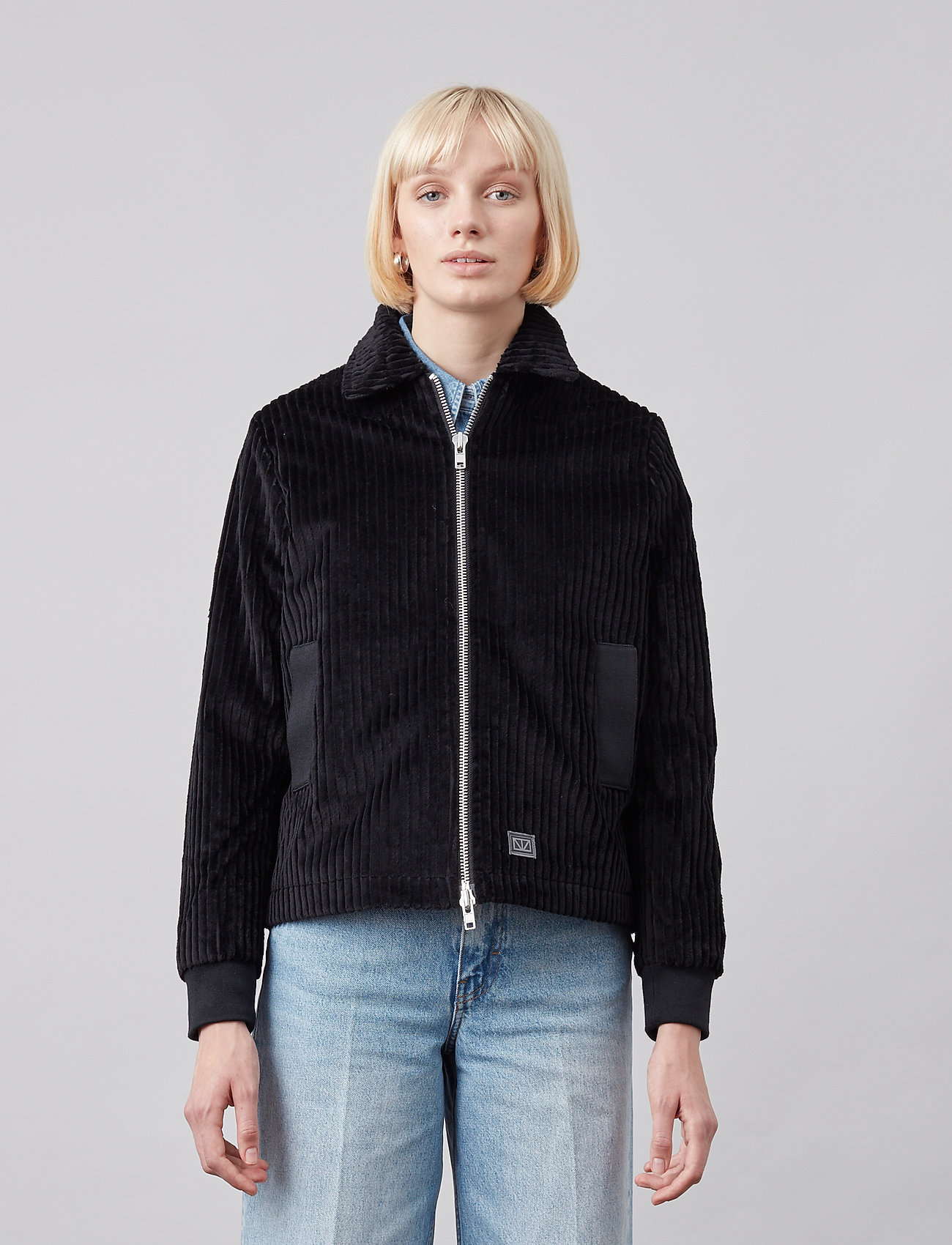 Brixtol Textiles - Eve Cord - lichte jassen - black - 0