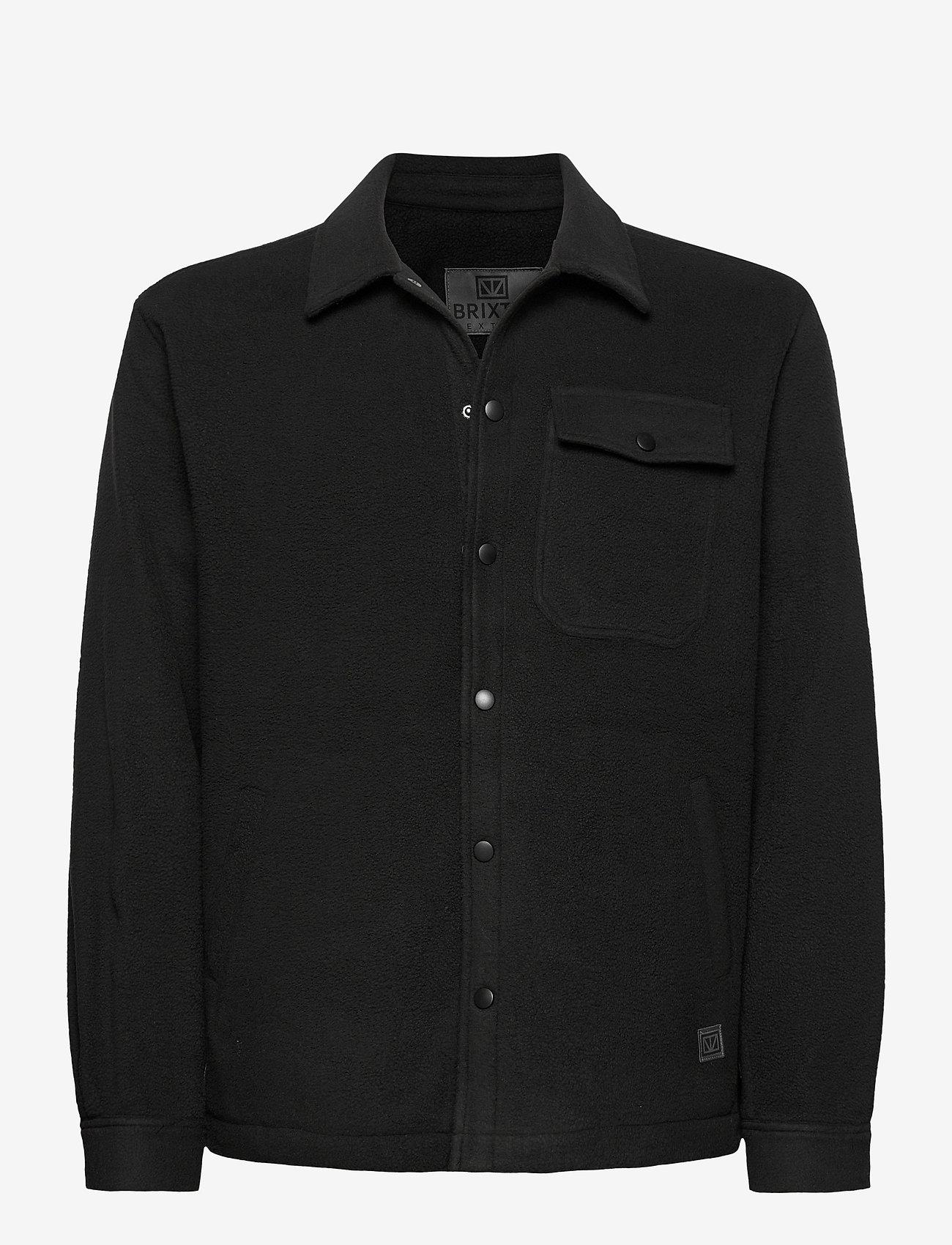 Brixtol Textiles - Frank Fleece - overdeler - black - 1