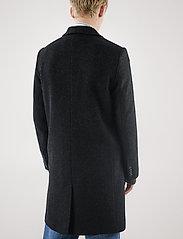 Brixtol Textiles - Ian - wollen mantels - black melange - 4
