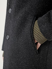 Brixtol Textiles - Ian - wollen mantels - black melange - 5