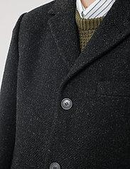 Brixtol Textiles - Ian - wollen mantels - black melange - 6