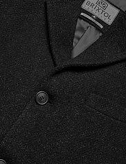 Brixtol Textiles - Ian - wollen mantels - black melange - 7