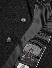 Brixtol Textiles - Ian - wollen mantels - black melange - 9