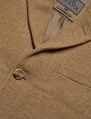 Brixtol Textiles - Ian - wollen mantels - dark camel - 2