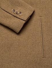Brixtol Textiles - Ian - wollen mantels - dark camel - 3