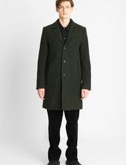 Brixtol Textiles - Ian - ullfrakker - olive - 0