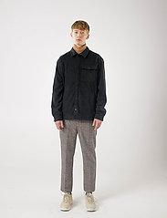 Brixtol Textiles - Frank Fleece - overdeler - black - 4