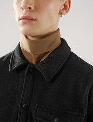Brixtol Textiles - Frank Fleece - overdeler - black - 6