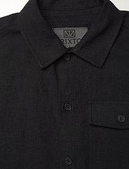 Brixtol Textiles - Frank Linen - tops - black - 6