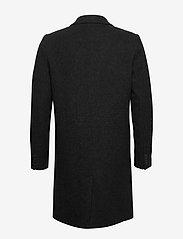 Brixtol Textiles - Ian - wollen mantels - black melange - 2