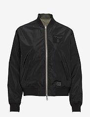 Brixtol Textiles - A.J Reversible - bomber jakker - black/light olive - 1