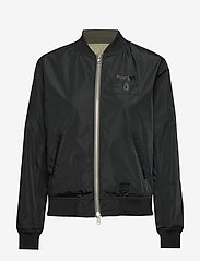 Brixtol Textiles - A.J Reversible - bomber jakker - black/light olive - 3