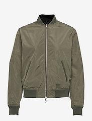 Brixtol Textiles - A.J Reversible - bomber jakker - black/light olive - 5