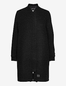 E.M Bomber Wool - ullkåper - black melange