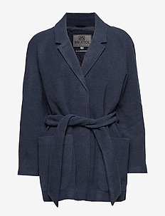 Suz - wool jackets - navy