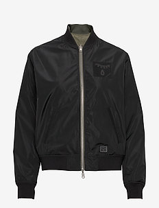 A.J Reversible - bomber jakker - black/light olive