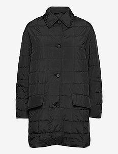 Isla - gewatteerde jassen - black