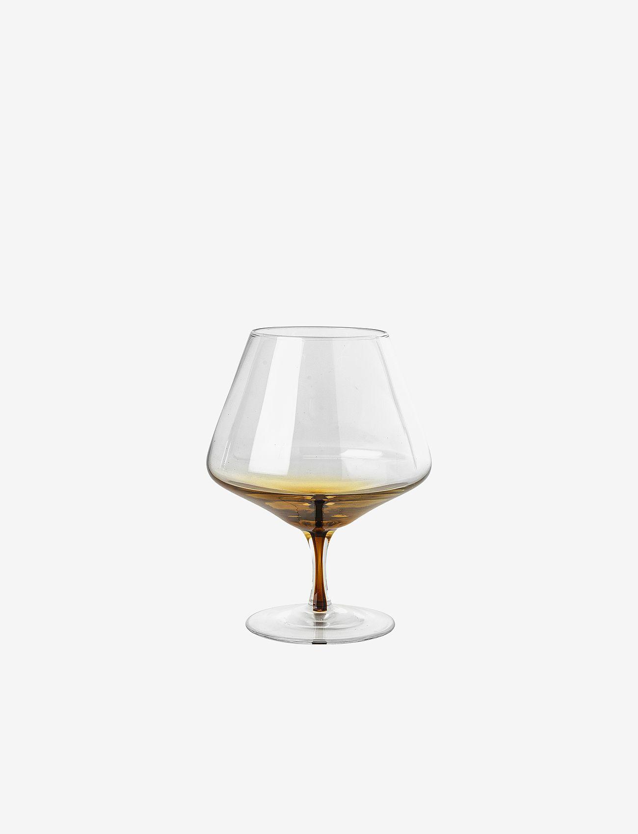 Broste Copenhagen - Cognac glass Amber - whiskyglass & cognacglass - clear/caramel - 0