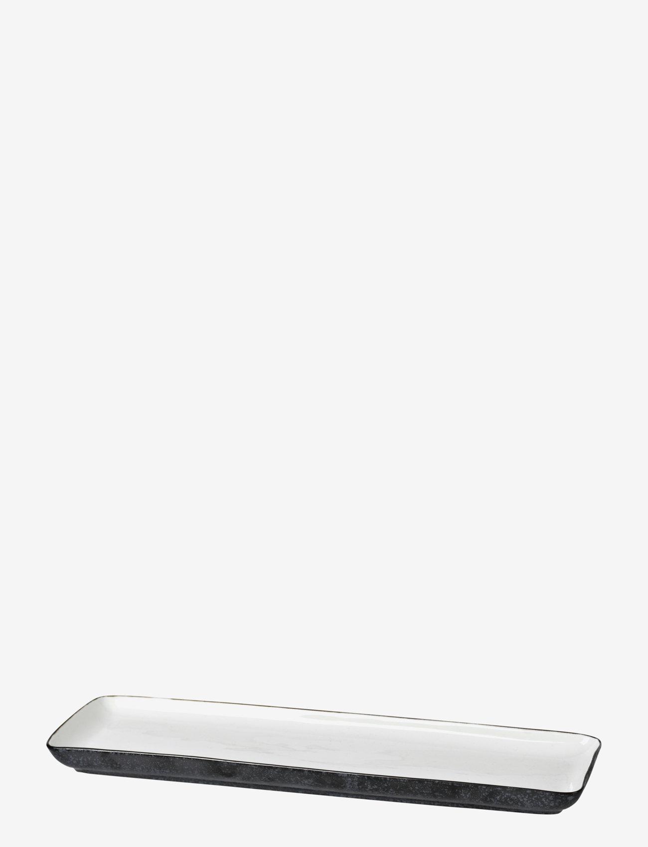 Broste Copenhagen - Plate Esrum - serveringsfat - ivory/grey - 0