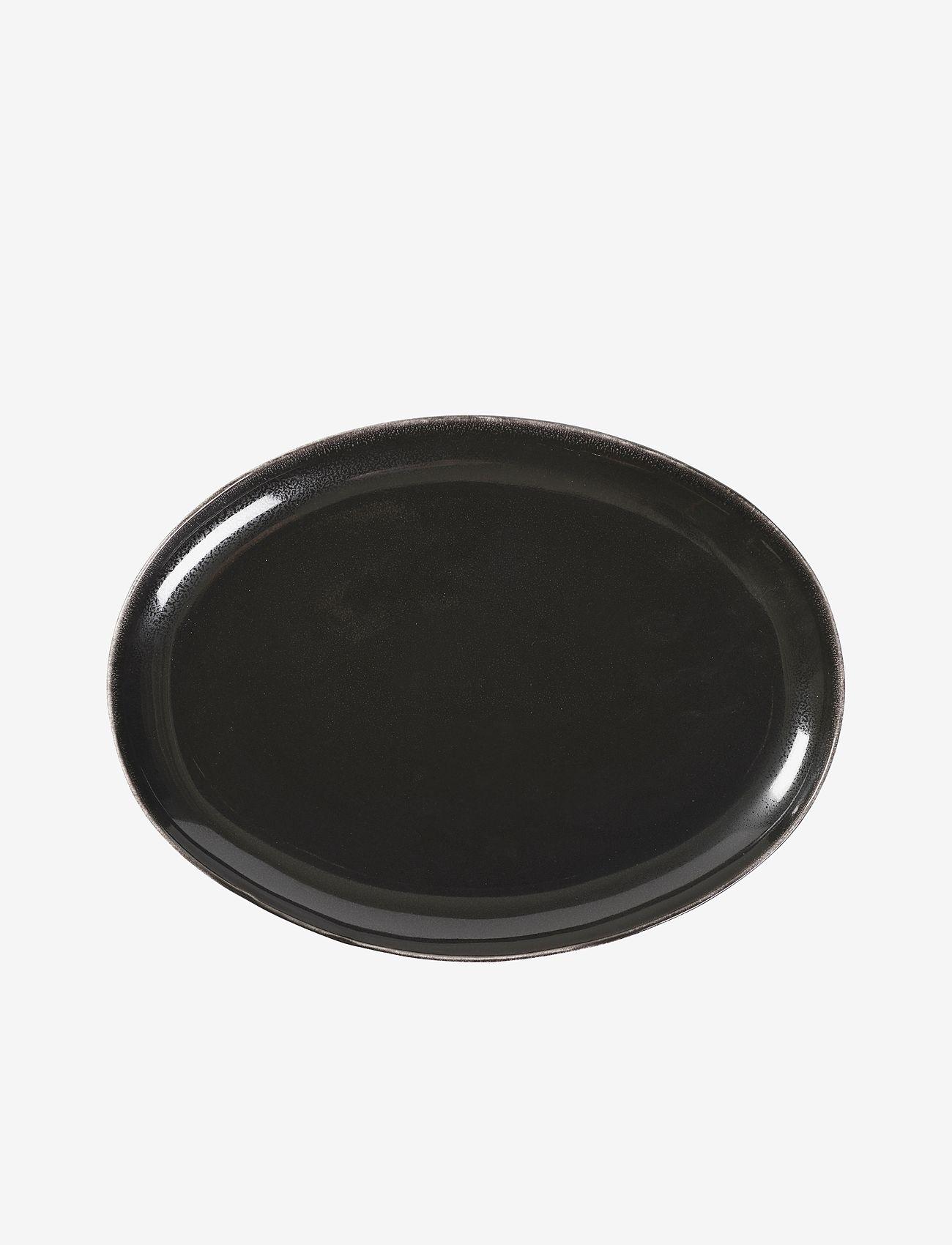 Broste Copenhagen - Oval plate Nordic coal - middagstallerkener - charcoal - 0