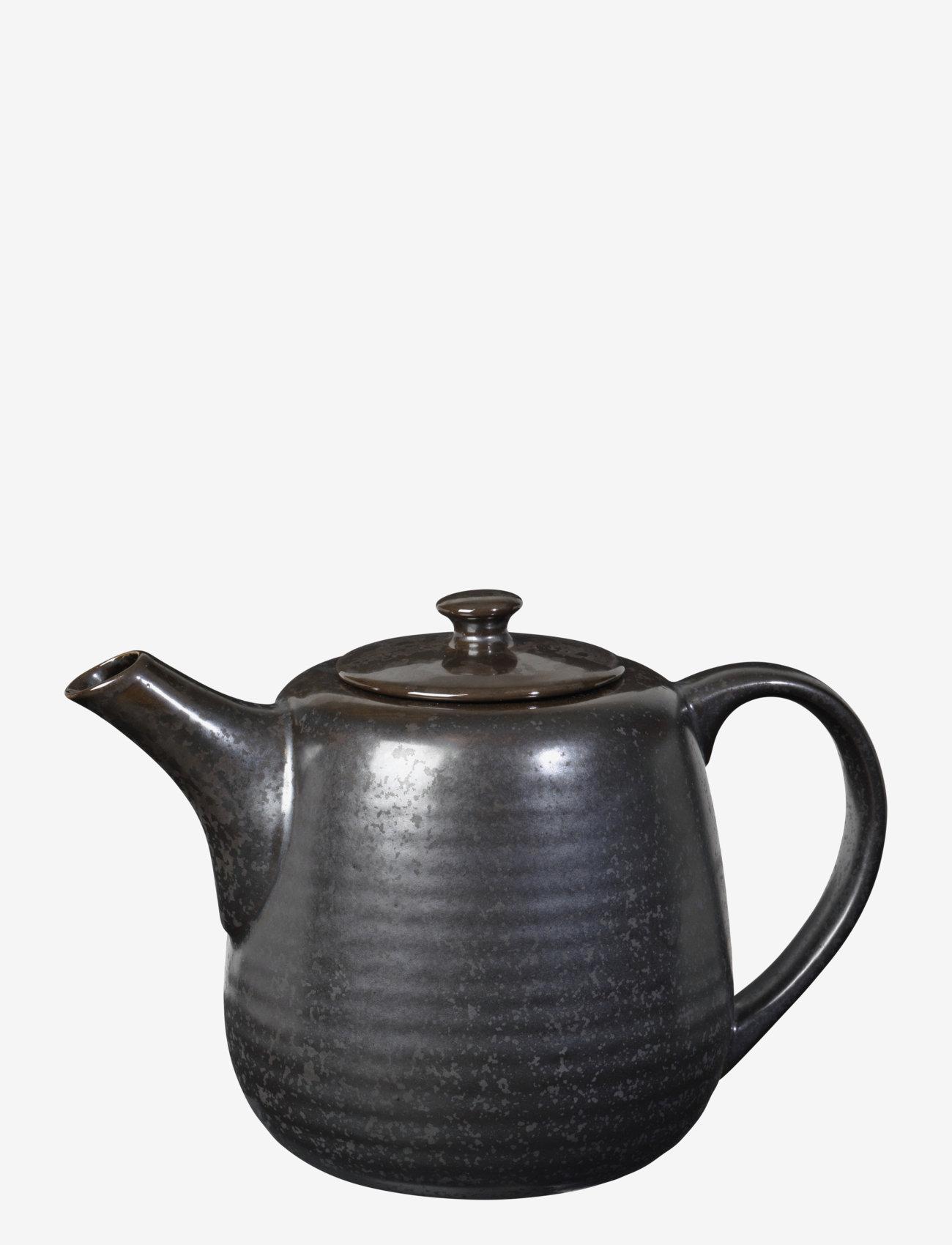 Broste Copenhagen - Tea pot Esrum night - teepannut - grey/brown - 0