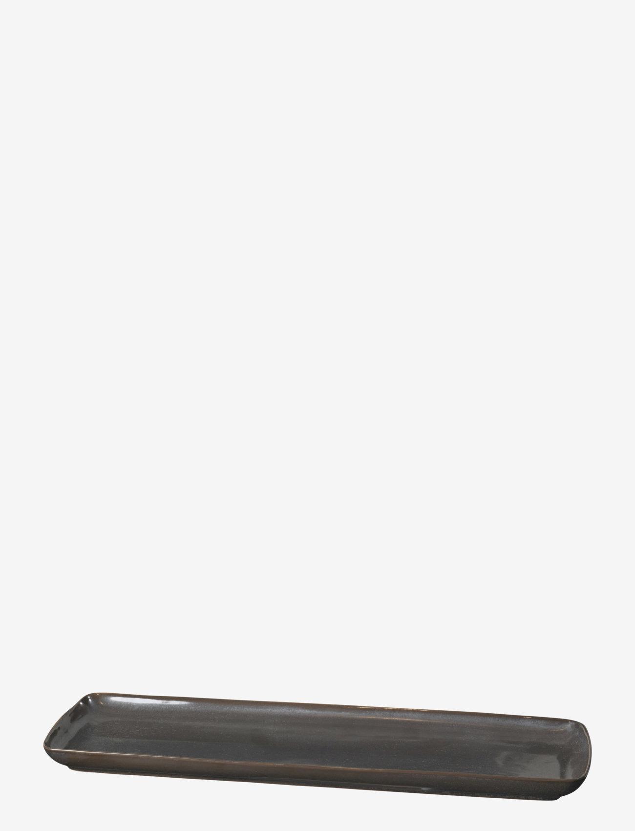 Broste Copenhagen - Plate Esrum night - serveringsfat - grey/brown - 0