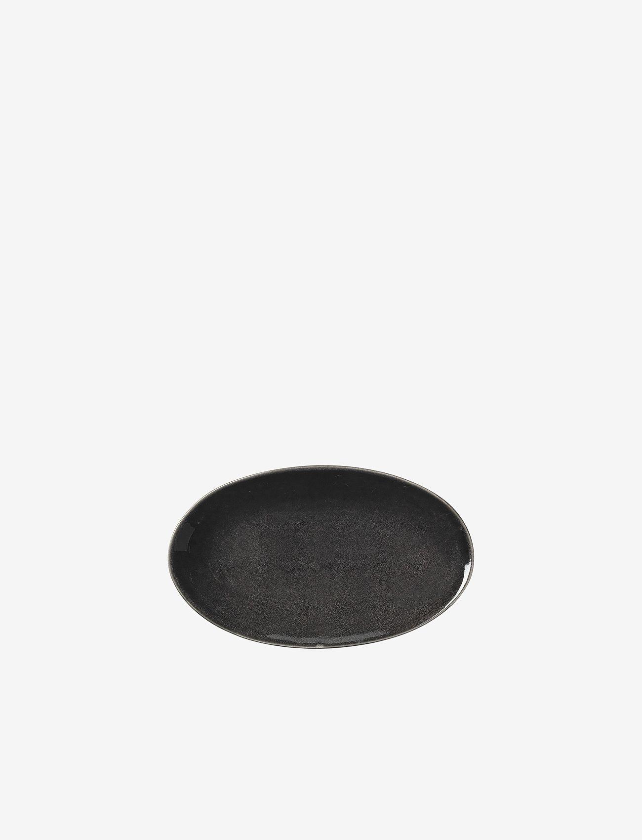 Broste Copenhagen - Plate oval Nordic coal - charcoal - 0