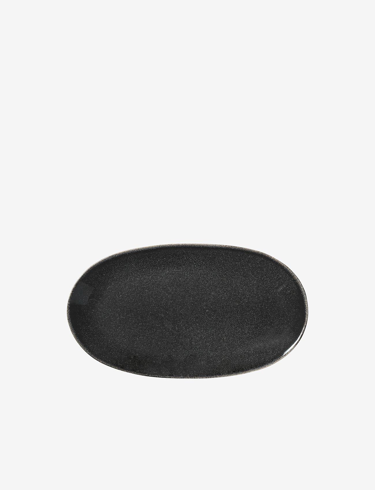 Broste Copenhagen - Oval plate Nordic coal - serveringsfat - charcoal - 0