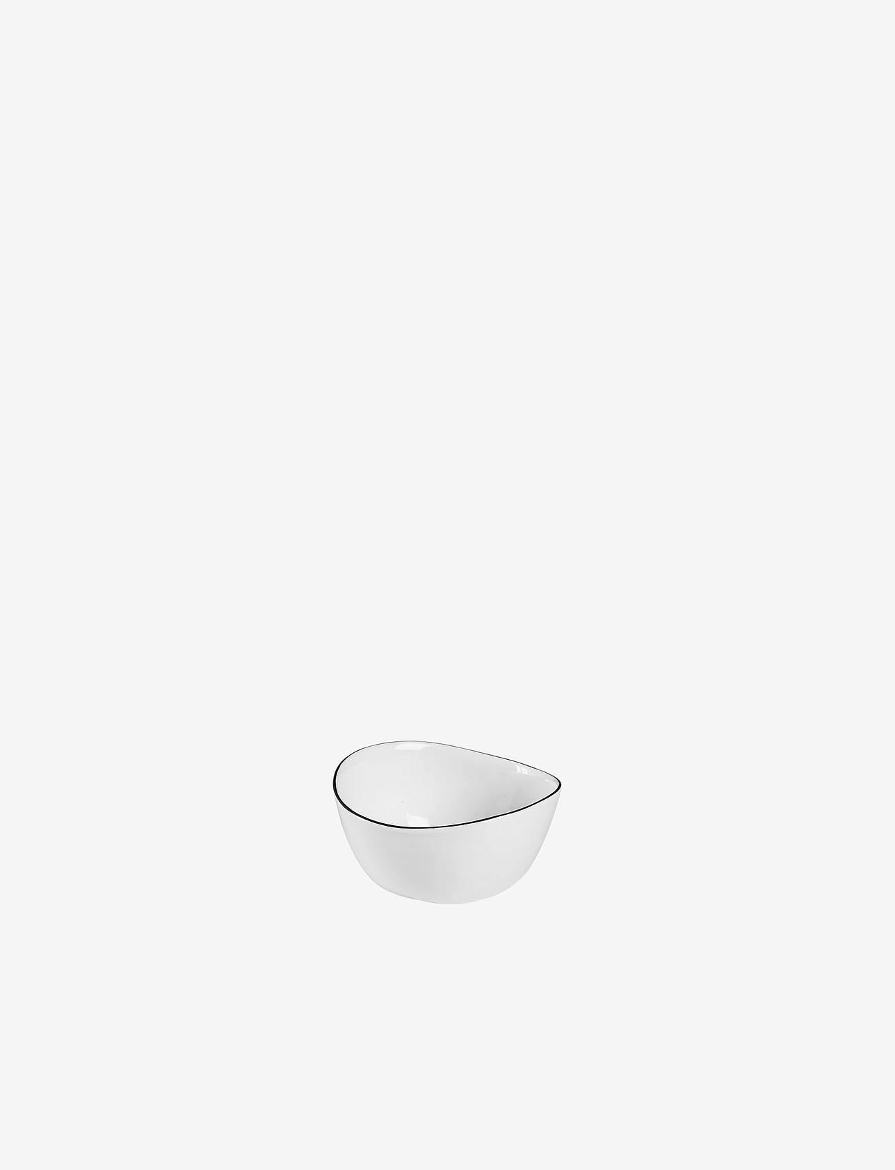 Broste Copenhagen - Bowl Salt - hedelmäkulhot - white w/black rim - 0