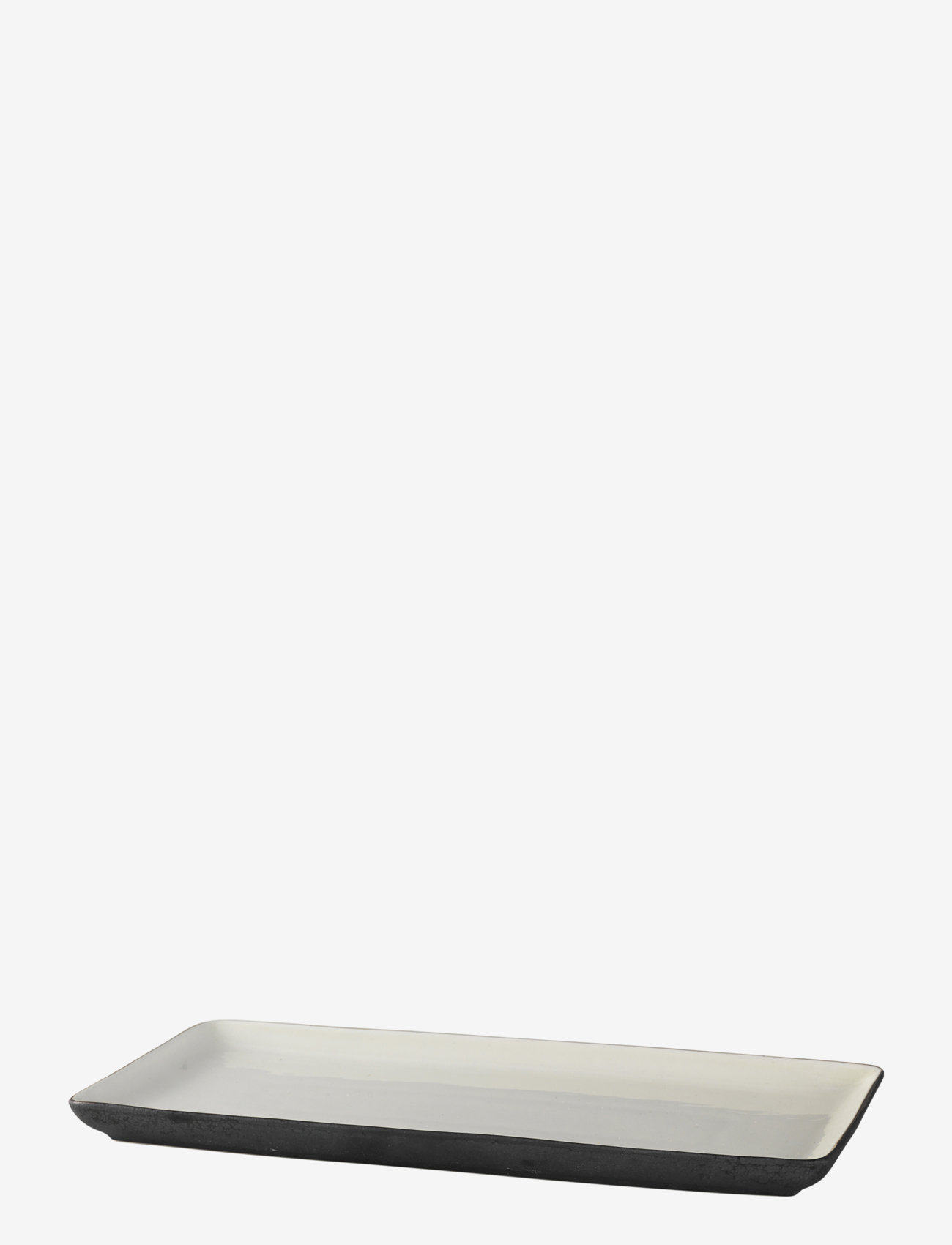 Broste Copenhagen - Plate Esrum - tarjoiluastiat ja -lautaset - ivory/grey colour - 0