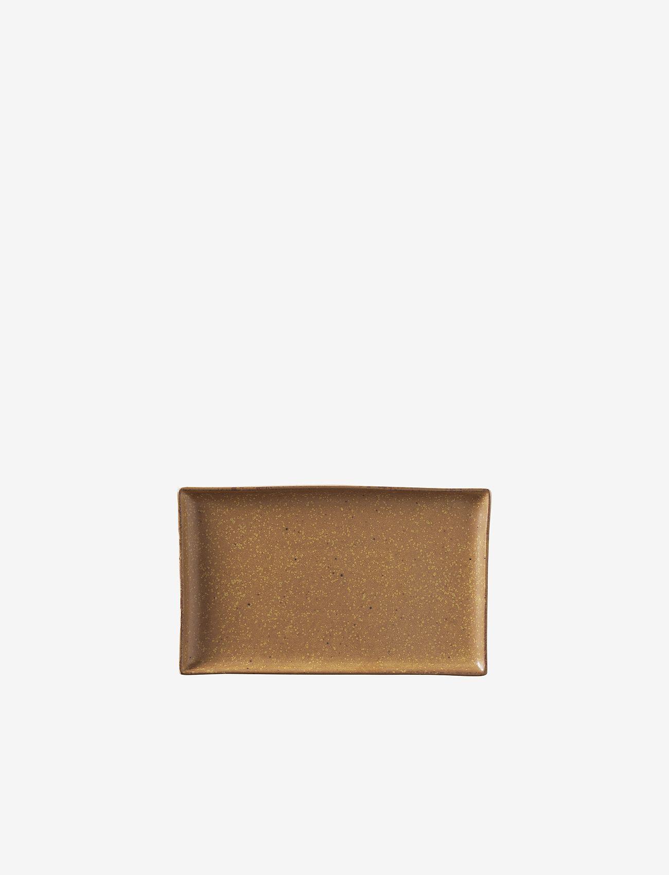 Broste Copenhagen - Plate Eli - serveringsfat - brown - 0