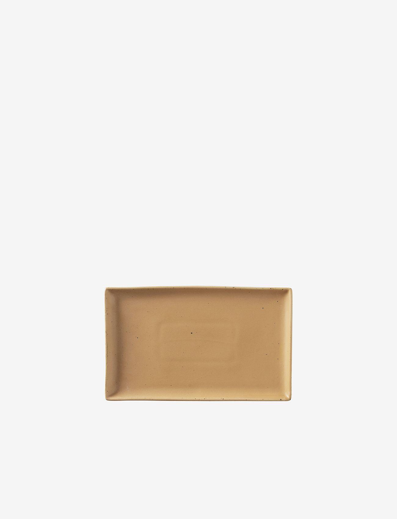 Broste Copenhagen - Plate Eli - serveringsfat - brown/beige - 0