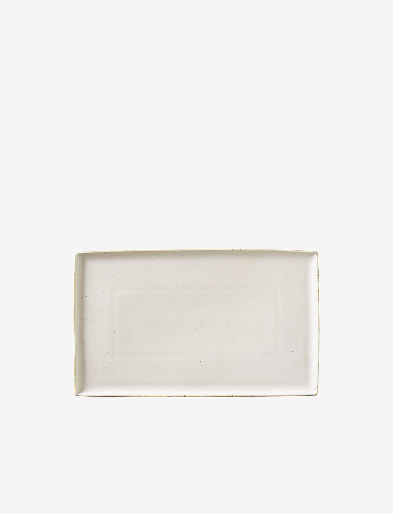 Broste Copenhagen - Plate Eli - serveringsfat - soft light grey - 0