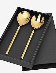 Broste Copenhagen - TVIS Salad servers - salatbestikk - rose gold - 0