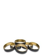 RING Napkin ring 6-pack - BRASS/CASTLEROCK