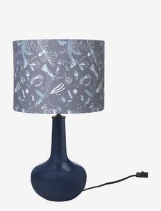 Table lamp Bell - bordlamper - metal/poly./cotton blue night