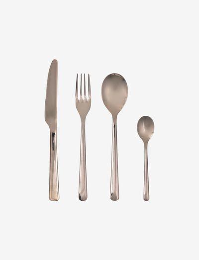 HUNE Cutlery set - bestikksett - espresso