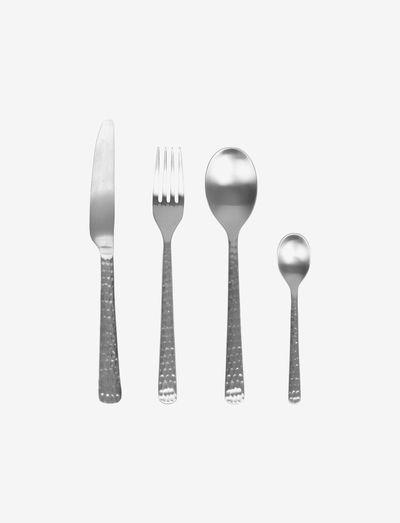 HUNE Cutlery set - bestikksett - brushed satin hammered