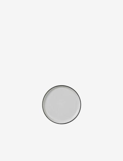 Plate Esrum - middagstallerkener - ivory/grey