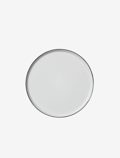 Dinner plate Esrum - middagstallerkener - ivory/grey