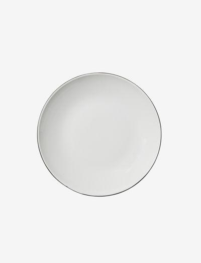 Pasta plate Esrum - dype tallerkener - ivory/grey