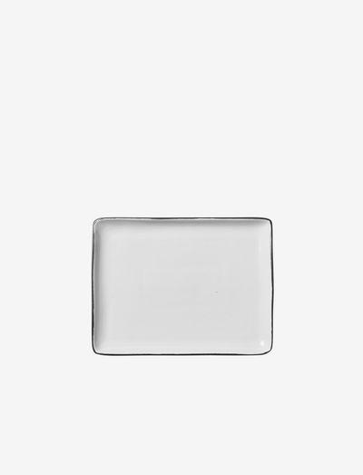 Plate Esrum - serveringsfat - ivory/grey colour